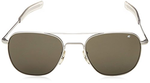 AO Eyewear American Optical - Original Pilot Aviator Sunglasses with  Bayonet Temple and Matte Chrome 960c5ed065
