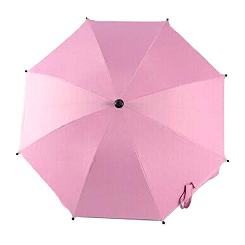 Baby Furniture Baby Nest Bed Adjustable Laciness Umbrella for Golf Carts, Baby Strollers/Prams and Wheelchairs to Provide Protection from Rain and The Sun(Azure) (Color : Pink) by LUOFUSHENG
