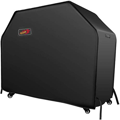 """VicTsing BBQ Cover, Heavy Duty Waterproof Gas Grill Cover with Handles and Straps Fits Weber, nexgrill, Royal Gourmet,Kenmore,Broil King, Char Broil 3-4 Burner Barbecue Grill (600 D, 58"""")"""