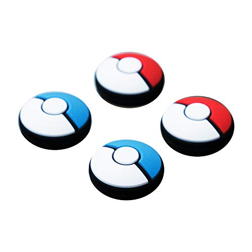 Geekshare 4Pcs Silicone Sakura Paw Joy Con Thumb Grip Set Joystick Caps Nintendo Switch and Nintendo Switch Lite Cover Analog Thumb Stick Grips (PokeM 06)