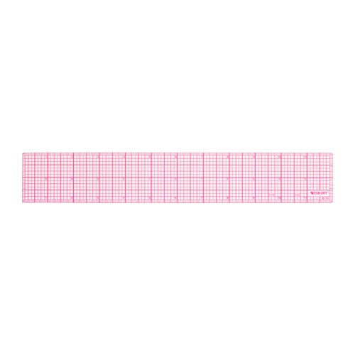 Westcott 8ths 12-Inch Beveled Transparent Ruler (B-70) (Clear Plastic Ruler)
