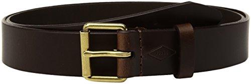 Fossil Women's Roller Buckle Jean Leather Belt Accessory, -espresso, S