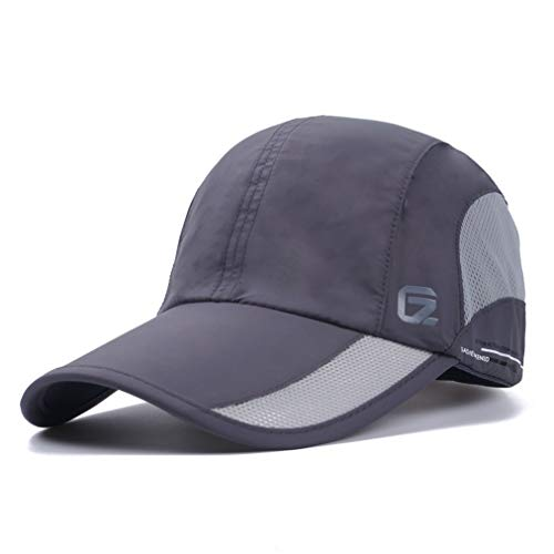 (GADIEMKENSD Quick Dry Sports Hat Lightweight Breathable Soft Outdoor Run Cap Outdoor Baseball Caps Golf Hat (DimGray) )