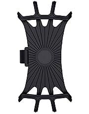 yanbirdfx Phone Holder 360 Degree Rotating Silicone Handlebar Phone Navigation Bracket for Mountain Bike - Black