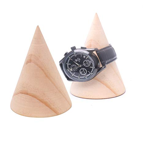 Whale GoGo Solid Wood Bangle Bracelet Watch Holder Retail Stores Jewelry Display Stand Decorative Props Pack of 2