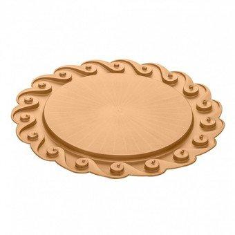 Koziol 3628627 AMADEUS Kuchenplatte, 1 Einheiten, Kunststoff, pearl gold, 41 x 41 x 2 cm