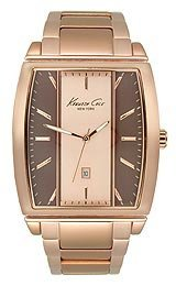 Kenneth Cole New York Mens Dress Two Tone Dial Rose Tone Bracelet Watch KC9096