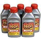 Motul (5 Pack) 100949 8068HL RBF 600 Factory Line Dot-4 100 Percent Synthetic Racing Brake Fluid - 500 ml ()