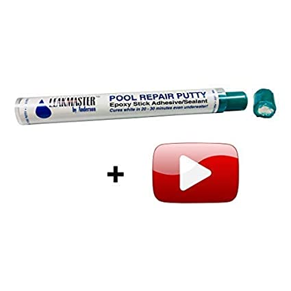 Pool Putty Epoxy Leak Sealer Repair Kit + Valuable Instructional Videos by  Professional Swimming Pool Leak Detector | Solves #1 DIYer Complaint | So  ...