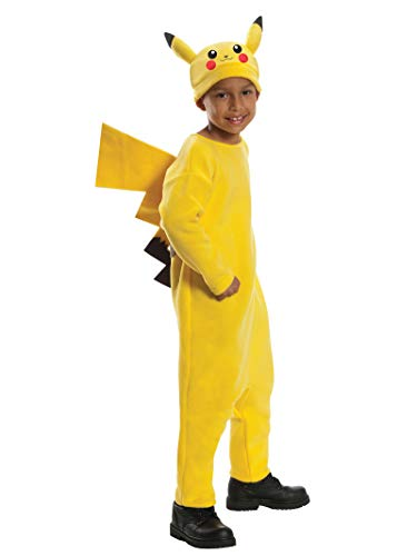 Famous Tv Character Halloween Costumes (Rubie's Pokemon Child's Deluxe Pikachu Costume - One Color -)