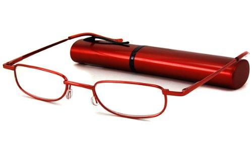 Able Vision Reading Glasses - BPR36 Tube Burgundy / BPR36 BURGUNDY TUBE