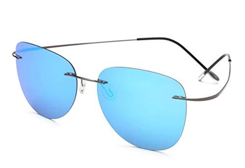 Gafas Sol Driving Ultra de Dedicated XIYANG Light Verde Blue Polarized Fishing Unisex Frameless Glasses dSpEdwq
