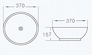 Gr/ünblatt Waschbecken Aufsatz-Waschschale mit Lotus Effekt Nano-Beschichtung