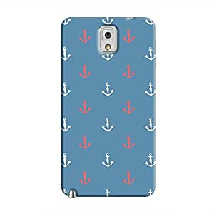 Cover It Up - Red&White Anchors Galaxy Note 3Hard Case