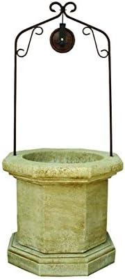 CATART Pozo Brocal Decorativo para jardín en hormigón-Piedra 90X90X202cm.: Amazon.es: Jardín