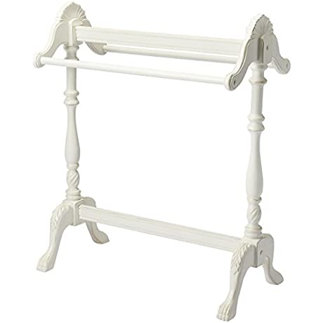 Blanket Stand In Distressed Cottage White Finish 730857