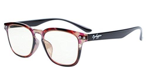 (Eyekepper Vintage Flex Lightweight Plastic Frame Computer Glasses Readers Eyeglasses Red Tortoise +0.75)