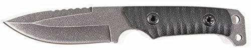 UZI Shomer Features Stone Washed Stainless Steel/Plain Edge Blade/G10 Handle/Full Tang/Kydex Sheath