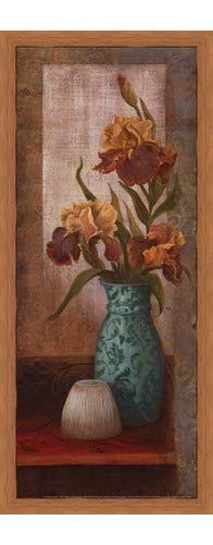 (Poster Palooza Framed Spiced Jewels II - Mini- 8x20 Inches - Art Print (Honey Pecan Frame))