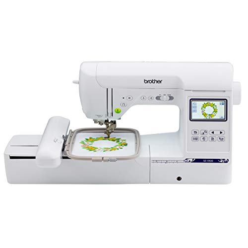"Brother SE1900, 138 Designs, 240 Built Stitches Computerized Machine, Embroidery Embroidery, 5"" x 7"" Embroidery Area, 3.2"" LCD Touchscreen Display, 8 Included Sewing Feet"