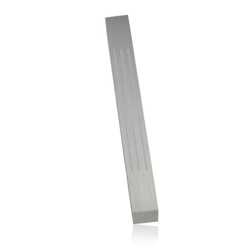 Silver Lined Brushed Aluminum Mezuzah by Adi Sidler