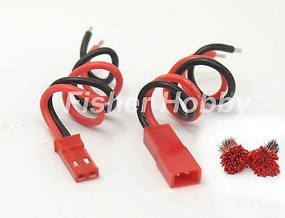 FidgetGear 100 Sets x 10cm JST Socket Connector Plug 22AWG Cable RC Parts from FidgetGear