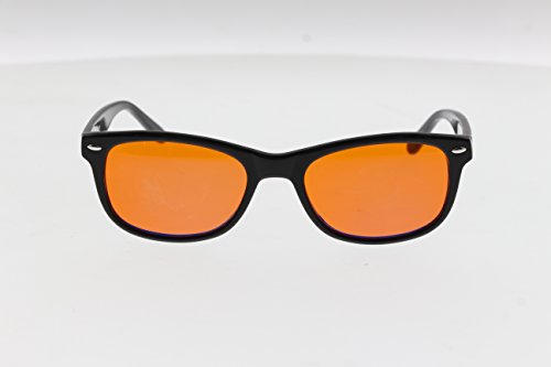 BLU BLCK's Blue-Light Blocking Glasses Amber (Orange)Tinted Lens Blocks 100% of Blue/UV Rays
