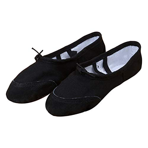 Canvas Dance Sole Womens Shoes Soft Frestepvie Adult's Leather Flat Ballet Yoga Children's Girls Ballerinas Black Pumps Gymnastic Sizes dSzqCw