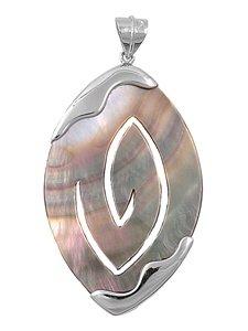 Joyara - Collier Femme Argent Fin 925/1000 Abalone (Vient avec une chaîne de 45 CM)