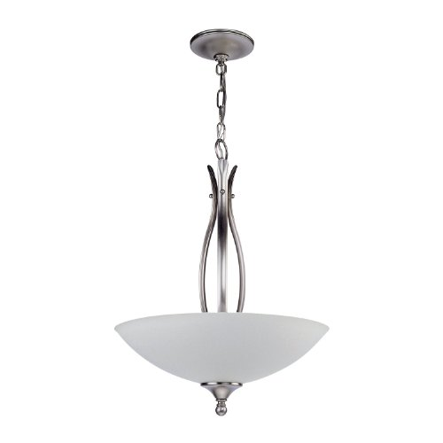 DVI DVP1820SN 3 Light Charleston Semi Flush Ceiling Light