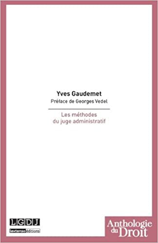 Livres gratuits Les méthodes du juge administratif pdf