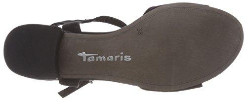 Sandals 28045 black 001 Women's Tamaris Strap Ankle Black Z5BWxCvIwq