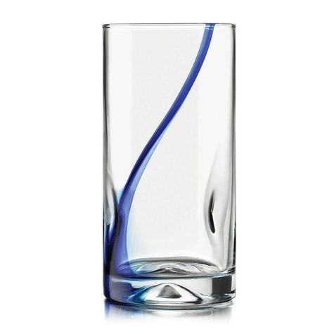 Impressions Ribbon - Libbey Impressions Blue Ribbon 4 Piece Glasses 16.7 oz