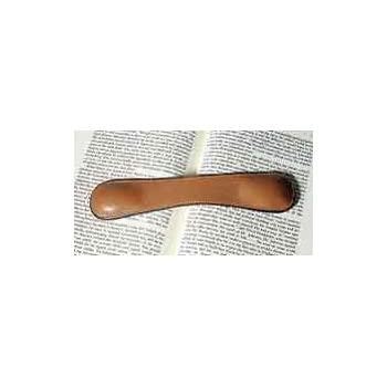 """8 1/2"""" Genuine Leather Weighted Bookmark - Brown"""