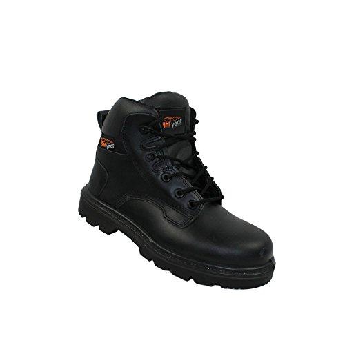 Boot Trekkingschuhe Pioneer Arbeitsschuhe Sicherheitsschuhe SRC Year S3 Light Hoch Berufsschuhe Schwarz Businessschuhe Schwarz FOEwn