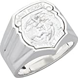 The Men's Jewelry Store Sterling Silver St. Michael Shield Ring