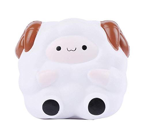 1 Pcs, White Anboor Squishies Sheep Bear Jumbo Scented Squeeze Toys Stress Reliever Squishies Slow Rising Toy Kawaii Soft Gift Collection