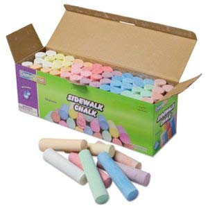 Sidewalk Chalk, 4 x1 Dia. Jumbo Stick, 12 Assorted Colors, 52 Pieces/Each Case (3 Sets)