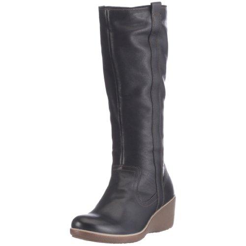 Ecco Shiver Wedge 220543 - Botas de cuero para mujer Negro