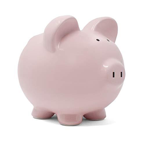 Child to Cherish Ceramic Piggy Bank for Girls, Pink -