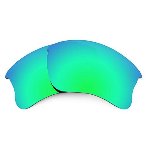 Jacket Green Glass - Revant Replacement Lenses for Oakley Flak Jacket XLJ Emerald Green MirrorShield