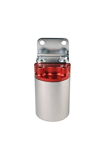 Aeromotive 12318 100 Micron Red Polished Canister Fuel ()