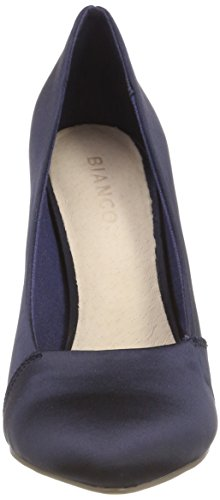 Bianco Damen Loafer Pump 100 Pumps Blau (Navy Blue 2)