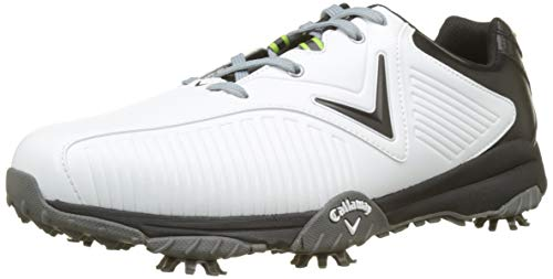 Callaway Men's Chev Mulligan Golf Shoes, (White/Black), 9 UK