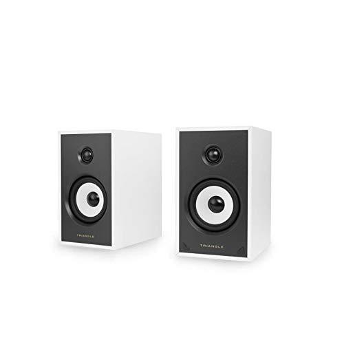 Paire Enceintes actives TRIANGLE SENSA SN03A Blanche Bluetooth Aptx Amplification 2 x 50 Watts
