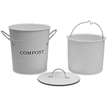 Amazon Com Rsvp Pail Boo Bamboo Compost Pail 3 Quart