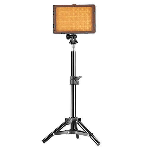 Neewer Photography 160 LED Studio Lighting Kit, Includes CN-160 Dimmable Ultra High Power Panel Digital Camera DSLR Camcorder LED Video Light, 32 inches/80 centimeters Adjustable Light Stand by Neewer