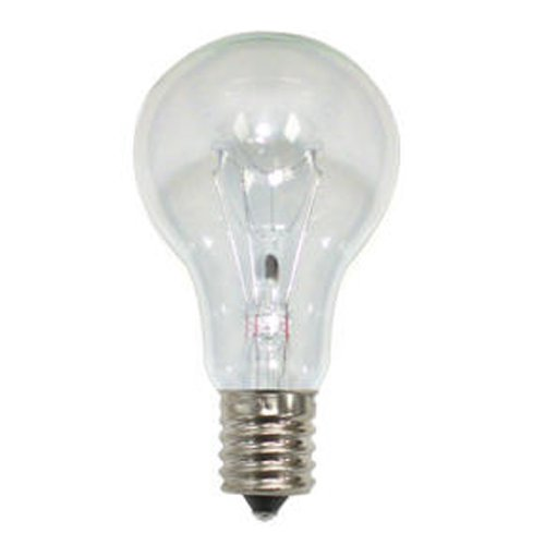 (Bulbrite 860859 40 W Dimmable A15 Shape Incandescent Bulb (E17) Base with Intermediate Screw, 12 Pack,)