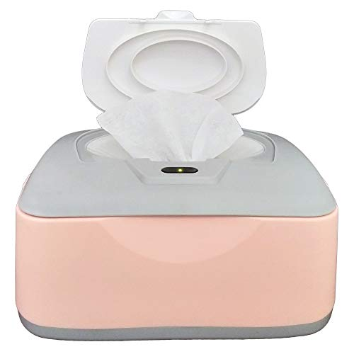 Baby Wet Wipes Warmer, Dispenser, Holder and Case - with Easy Press On/Off Switch, Only Available at Amazon