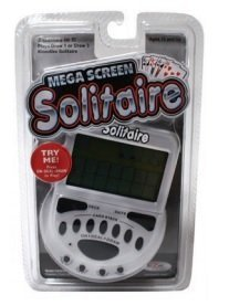 Handheld Solitaire Game - John Hansen Mega Screen Solitaire Handheld Electronic Video Game